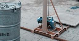 小吊机支架吊臂部位变形焊接