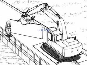 挖掘机水库旁吊装铁板作业:挖机侧翻司机溺水身亡