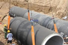 起重吊装带助力管道铺设配重袋