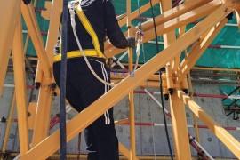 塔吊平衡臂安装速差防坠器保平安