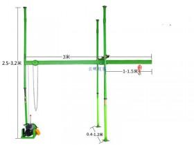 室内四柱直滑小吊机