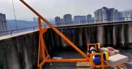 高层楼房门窗吊机如何安装?