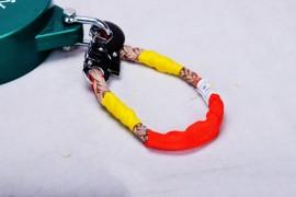 速差防坠器上面不用钢丝绳而用棉纶绳?