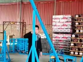 客户定制多用款移动斜臂4轮吊窗机/大玻璃吊机