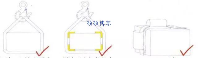 禁止在不光滑表面使用吊带