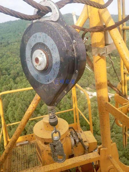 塔吊防坠器悬挂安装方法