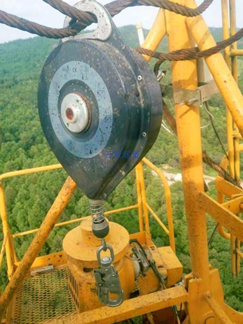 塔吊安装防坠器的位置实物图