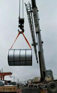 彩色吊装带起重吊装现场